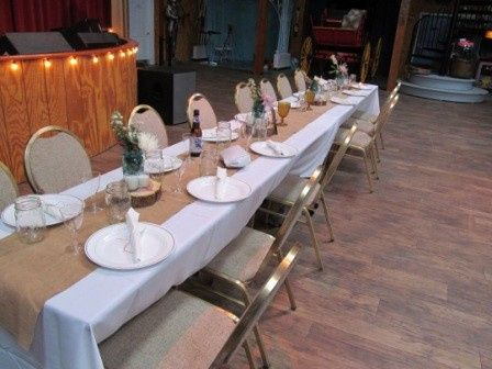 Rustic head table
