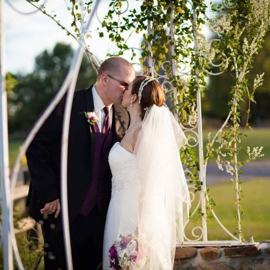 Have your ceremony at our  metal and stonework gazebo, or just take some beautiful outdoor photos.
