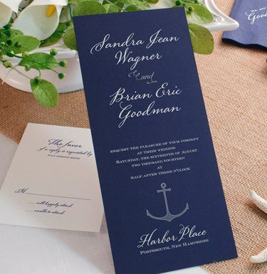 Tmx 1337349886533 NavyBlueWeddingInvitation West Kennebunk wedding invitation