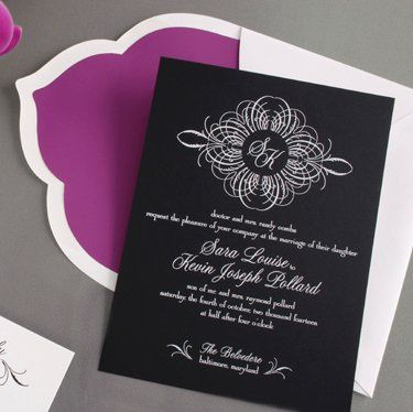 Tmx 1337349913973 Blackinvitationscardwithscallopedenvelope West Kennebunk wedding invitation