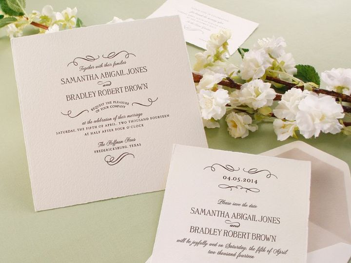 Tmx 1358346457002 ArturoDeckledEdge West Kennebunk wedding invitation
