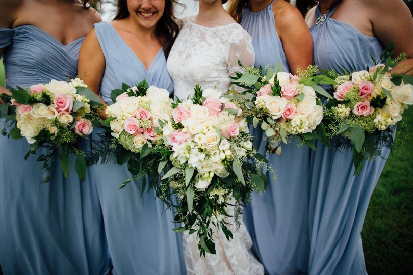 Bridal and Bridesmaids Bouquets | Photo courtesy of Tim Tab Studios