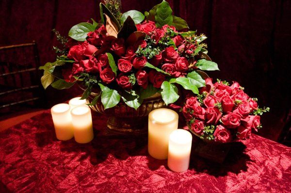 Flower and candle decor