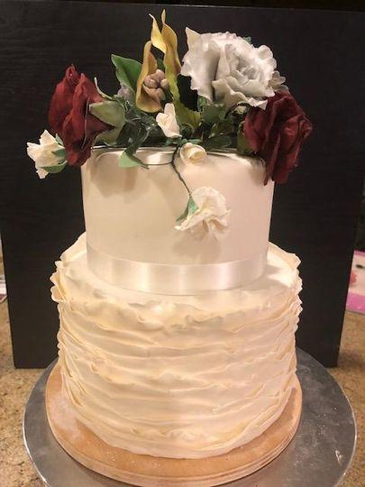 Sugar Paste Flowers, Cake