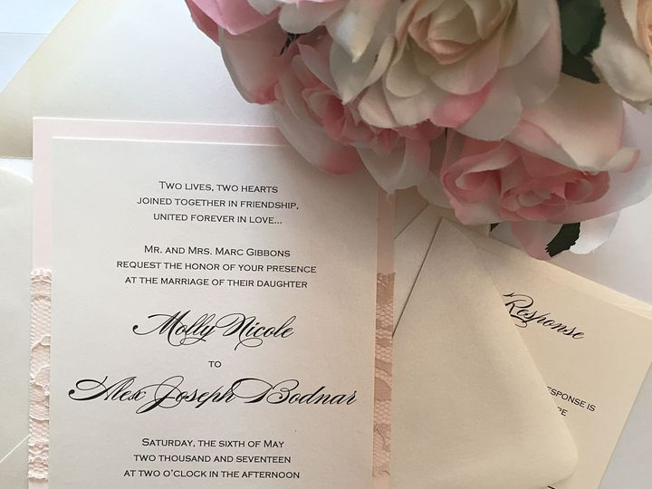 Tmx 1487608501 078cd6fbb3b2cbb9 IMG 2278 Selden, New York wedding invitation
