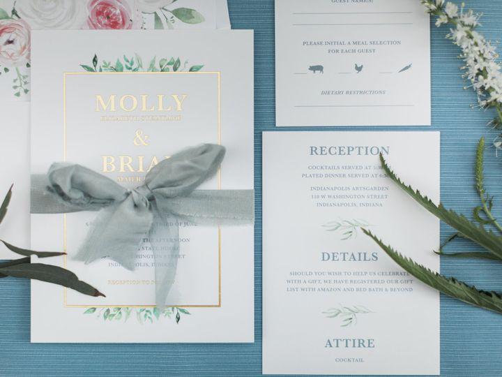 Tmx Molly Brian Reception 0029 51 782396 Greenwood, IN wedding invitation