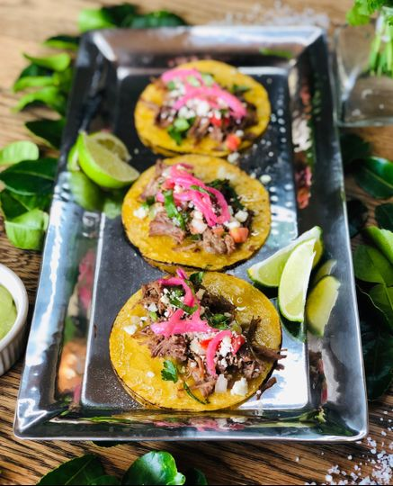 Brisket street tacos