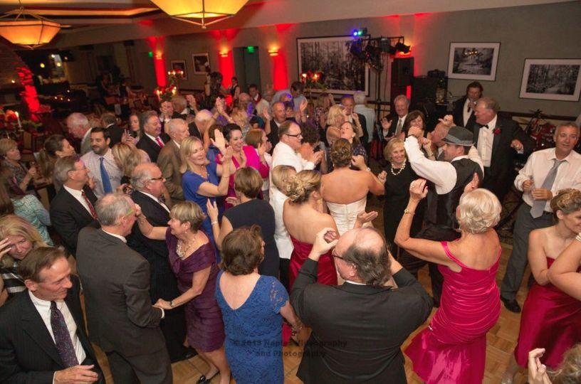 Crowd dancing