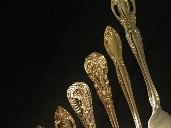 Tmx 1438980731272 Ees Gold Flatware2 Newtown Square wedding rental