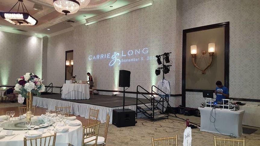 Speaker & Uplighting setup