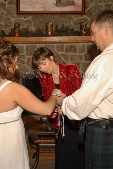 A Celtic hand fasting