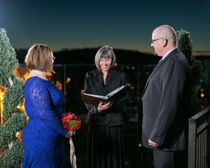 Roof top wedding