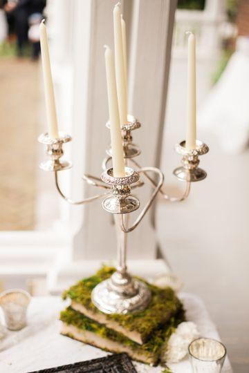 Candle light centerpiece   Team Wedding
