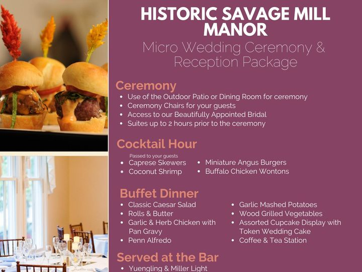 Tmx Micro Wedding Cr Manor House 51 496 159726046015946 Laurel, MD wedding catering