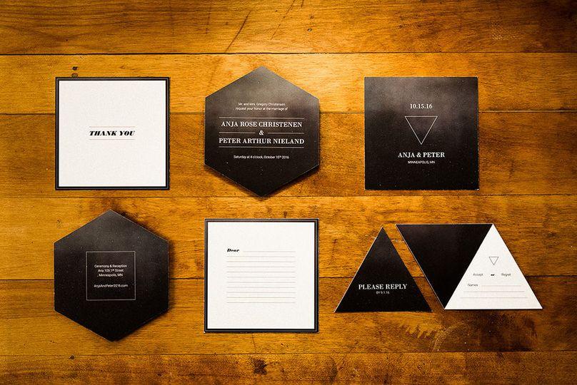 780a3536ec6105f1 Paper Paragon Romantic Glamorous Wedding invitation suite