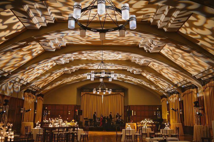 The ballroom with uplights