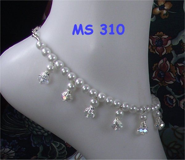 Angelic clear ab crystal anklet matches MS 310 Custom orders available in many colors. Matching...