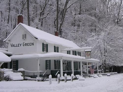 Valley green in winter