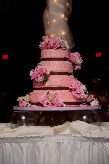 4 layered wedding cake