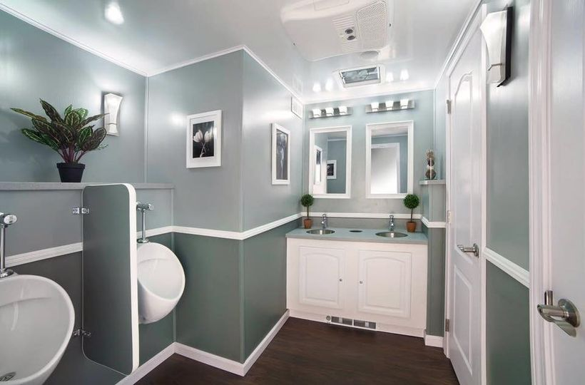 A flush away luxury restroom trailers event rentals for Bathroom rentals for weddings