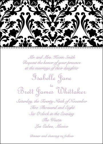 toile black wedding