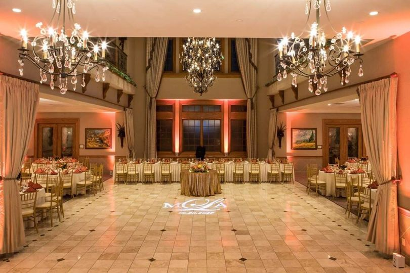Uplighting & monogram Talamore