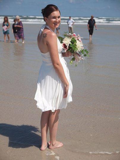 Bride by the shore