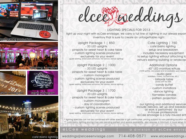 Tmx 1371226676655 Wedding Lighting Flyer 2013 Fountain Valley wedding planner