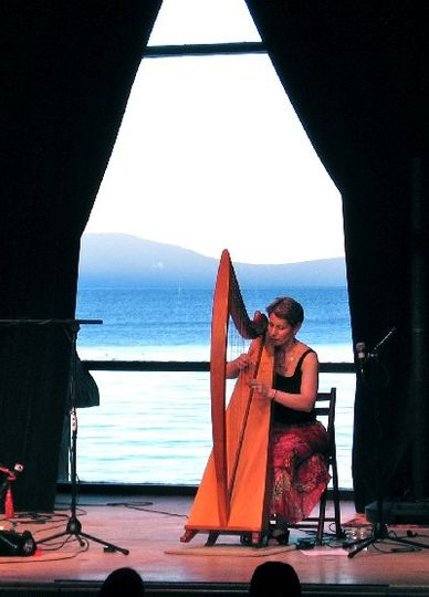 Anne plays a solo during the Valhalla Music Festival at the Boathouse Theatre in South Lake Tahoe,...