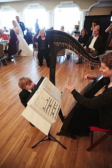 Performing at a Reception at The Wedgewood Sequoia, with the ring bearer very entertained. Photo...