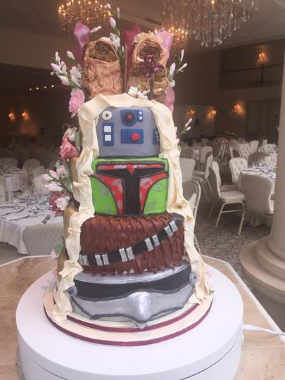 star wars cake front view star wars side 2016