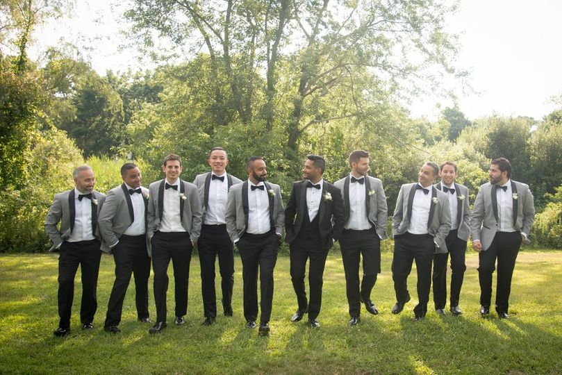 Light Grey Tuxedos
