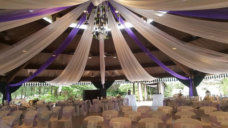 Set up for ceremony and reception in Gazebo