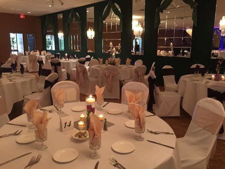 A Reception in our Evergreen room