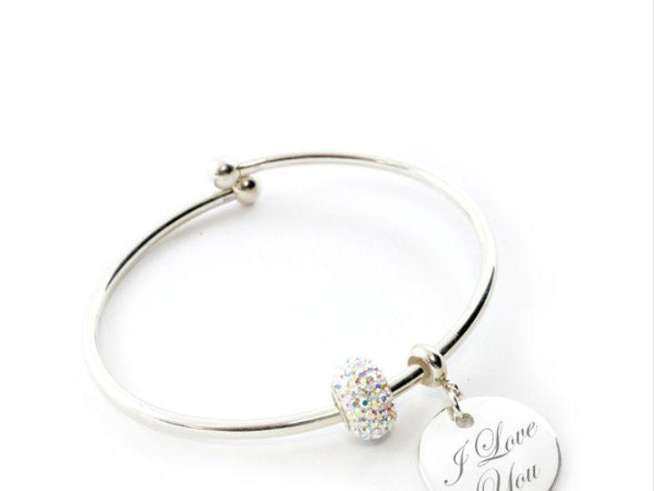Tmx 1424808817769 Crystal Malibu Flex Charm Bracelet 20mm 7in Sterli Buffalo wedding favor