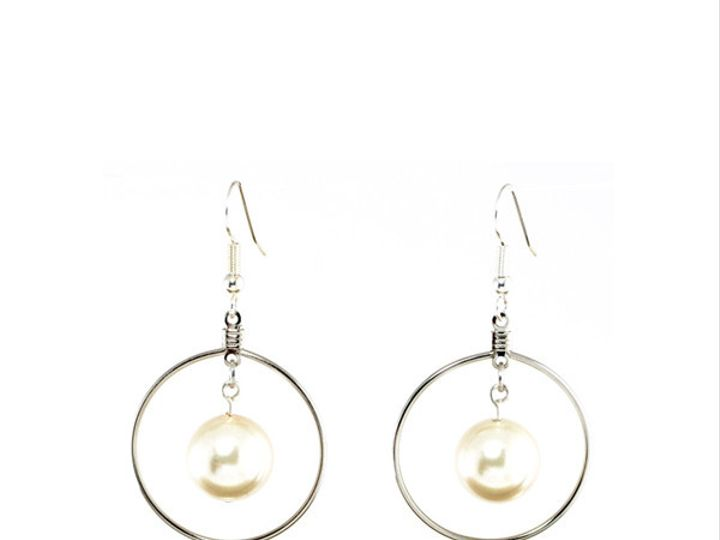 Tmx 1424808831940 Framed Pearl Dangles 11mm Silver Plated 29 Q5 Buffalo wedding favor