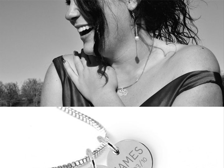 Tmx 1424808866535 Round Disc Stack Up To 5 Charms Charm Necklace 16m Buffalo wedding favor
