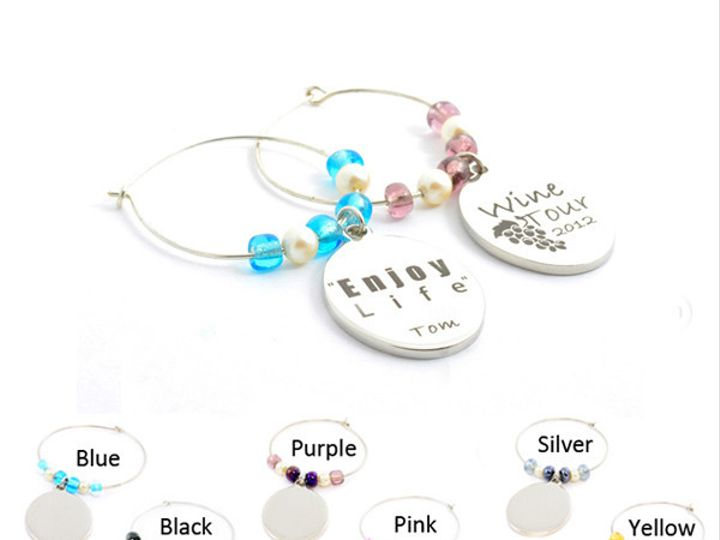 Tmx 1424808872041 Wine Charms 20x16mm Silver Plated Set Of Two 20303 Buffalo wedding favor
