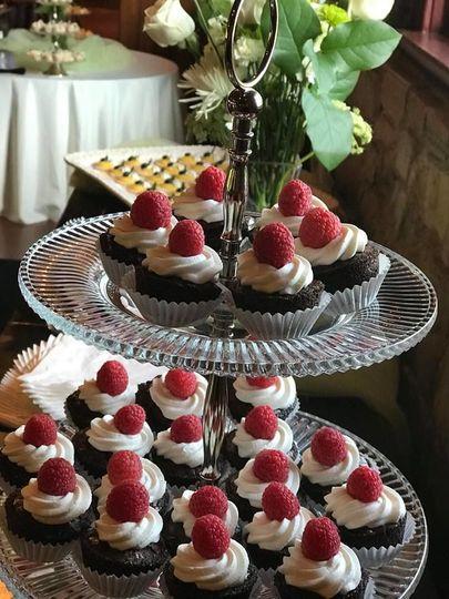 Platters of cupcakes