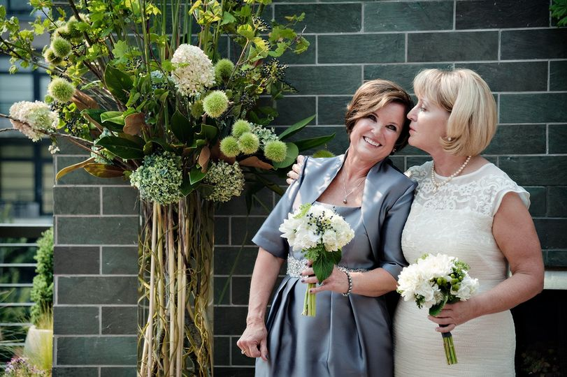 Noma and Gail celebrating 15 years after their commitment ceremony, at their wedding ceremony in...