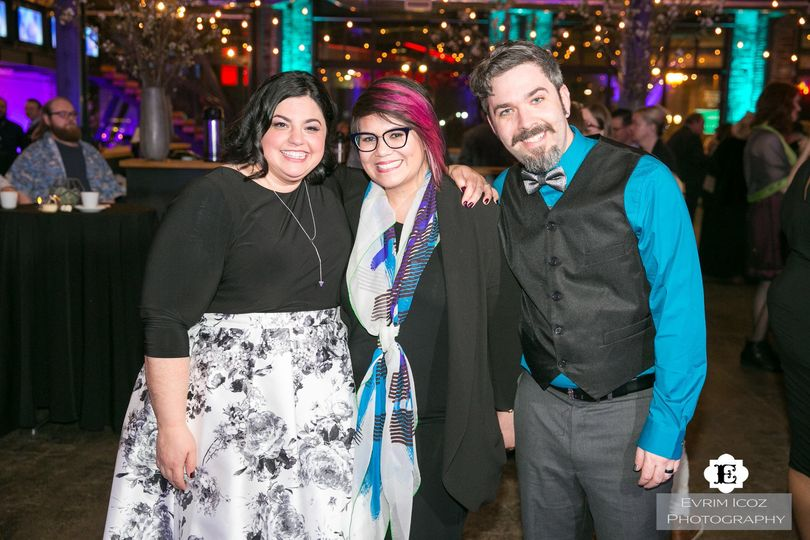 AWE Productions owner, Jenn Reyes, with another happy couple at the end of the reception!