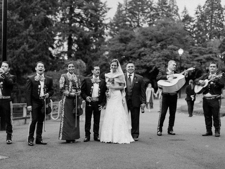 Couple with wedding band