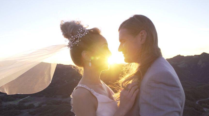 Wedding in sunlight
