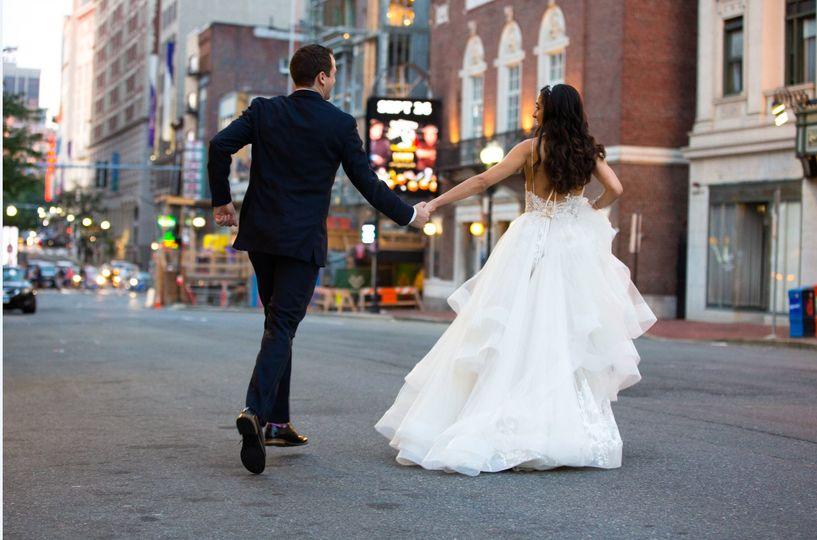 Just married - Photo credit: josh adam