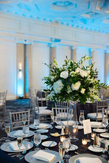 Wedding table arrangement - Photo credit: josh ada,