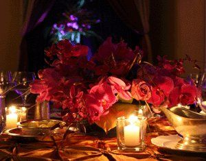 Tea lights always create a romantic ambiance at any function.