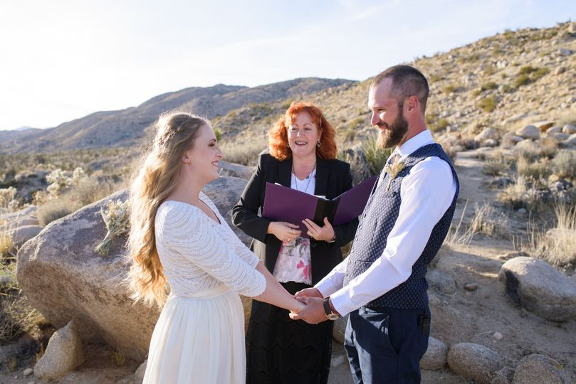 An elopement in Joshua Tree