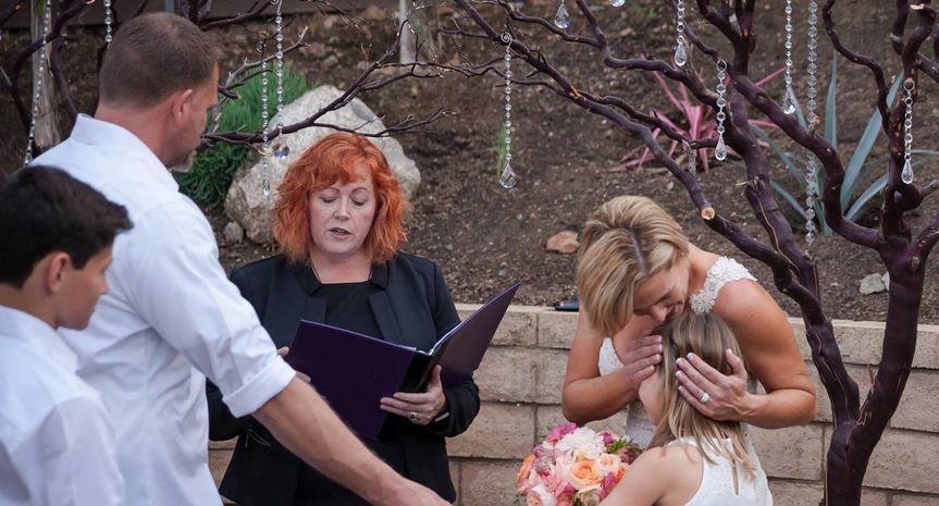 Robin and Matt backyard customized family ceremony.