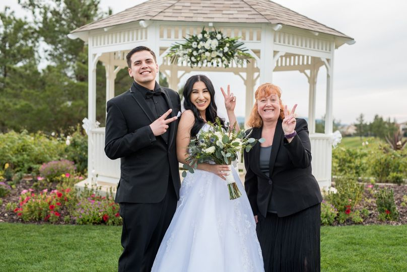 Fun, romantic and intimate wedding at a lovely garden at the Yucaipa Golf Course with Kathy and...