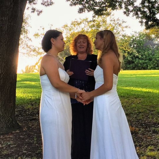 One of my favorite LGBT ceremonies in a stunning park near the LA beaches.